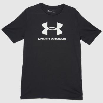 Under Armour Black & White Sportstyle Logo T-shirt Mens Tops