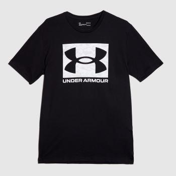 Under Armour Black & White Camo Logo T-shirt Mens Tops