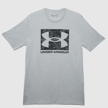 Under Armour Grey & Black Camo Logo T-shirt Mens Tops