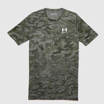 Under Armour Khaki Abc Camo T-shirt Mens Tops