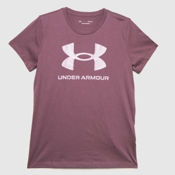Under Armour Purple Live Sportstyle Graphic Ssc Mens Tops