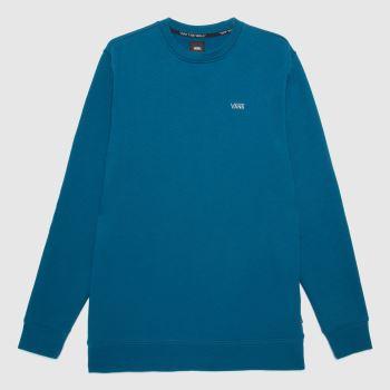Vans Turquoise Basic Crew Fleece Mens Tops
