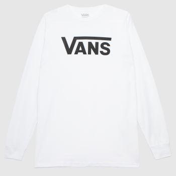 Vans White & Black Classic Ls Tee Mens Tops