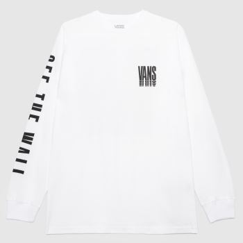 Vans White & Black Reflect Ls T-shirt Mens Tops