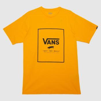 Vans Yellow Classic Print Box Tee Mens Tops