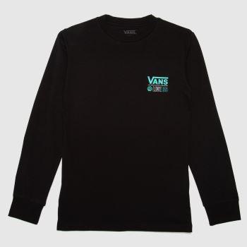 Vans Black & Green Broadcast 66 Ls T-shirt Mens Tops
