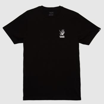 Vans Black Reality Coral Ss T-shirt Mens Tops