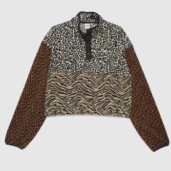 Vans Black & Brown Patchwork Wild Neck Fleece Mens Tops