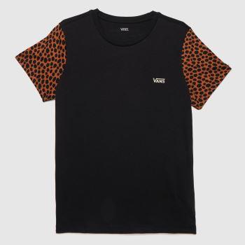 Vans Black Wild Colorblock T-shirt Mens Tops