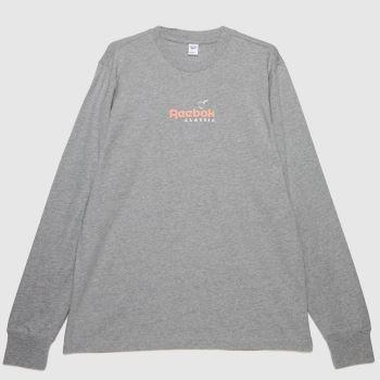 Reebok Light Grey Sr Ls T-shirt Mens Tops