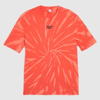 Reebok Orange Sr Tie Dye T-shirt Mens Tops