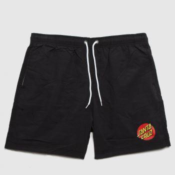 Santa Cruz Black Classic Dot Swimshorts Mens Bottoms