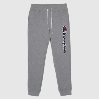 Champion Grey Rib Cuff Pants Mens Bottoms