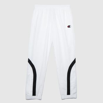 Champion White & Black Elastic Cuff Pants Mens Bottoms
