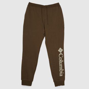 Columbia  Dark Green Logo Fleece Joggers Ii Mens Bottoms