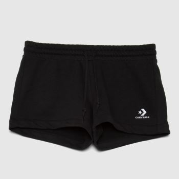 Converse Black Embroidered French Terry Mens Bottoms