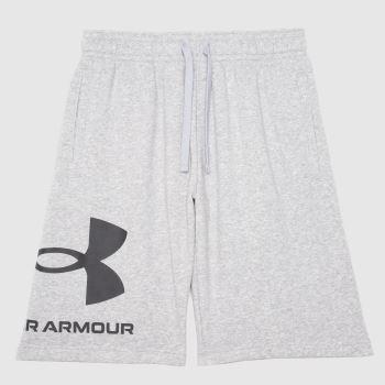 Under Armour Grey Big Logo Shorts Mens Bottoms
