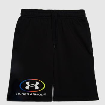 Under Armour Black Lockertag Shorts Mens Bottoms