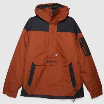 Columbia  Orange Challenger Pullover Mens Jackets