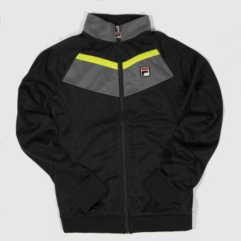 Fila Black & Grey Rudra Track Top Mens Jackets
