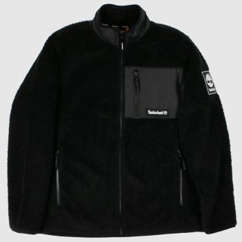 Timberland Black & White Sherpa Fleece Mens Jackets