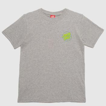 Santa Cruz Grey Boys Grip Dot T-shirt Boys Tops