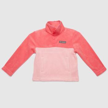 Columbia  Pink Girls Steens Mtn Fleece Girls Tops
