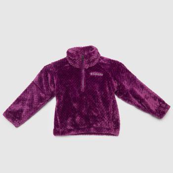 Columbia  Purple Kids Fire Side Ii Sherpa Zip Unisex Tops