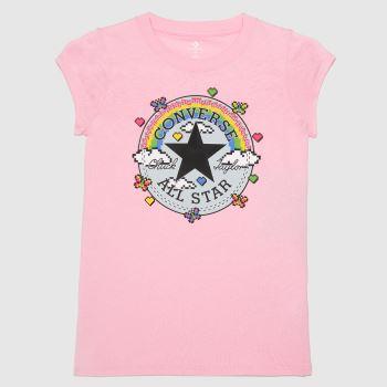 Converse Pink Girls Gamer Chuck Patch Girls Tops