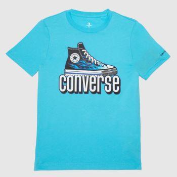 Converse Blue Boys Ss Ct Graphic T-shirt Boys Tops