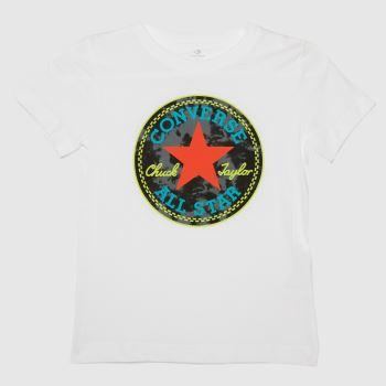 Converse White & Black Boys Chuck T-shirt Boys Tops