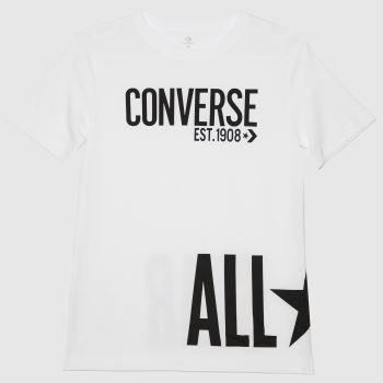 Converse White & Black Boys All Star T-shirt Boys Tops