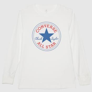 Converse White Ls Chuck Patch T-shirt Boys Tops