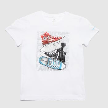 Converse White Boys Chuck T-shirt Boys Tops