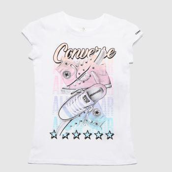 Converse White Girls Chuck T-shirt Girls Tops