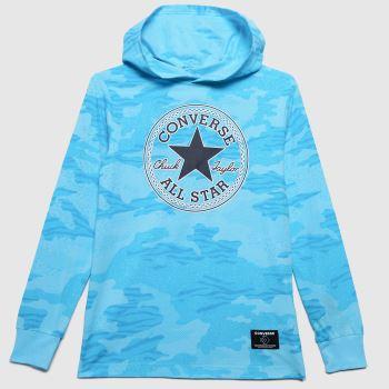 Converse Turquoise Boys Chuck Hooded T-shirt Boys Tops