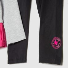 Converse Girls Peplum Legging Set,3 of 4