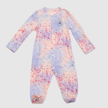 Converse Pale Pink Girls Baby Coverall Girls Tops