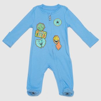 Converse Pale Blue Boys Baby Coverall Boys Tops