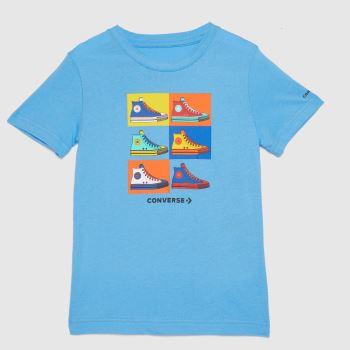 Converse Pale Blue Boys Pop Art Chucks T-shirt Boys Tops