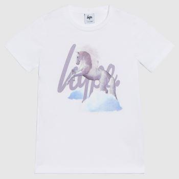 Hype White Girls T-shirt Unicorn Girls Tops
