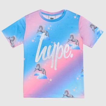 Hype Multi Girls T-shirt Unicorn Girls Tops