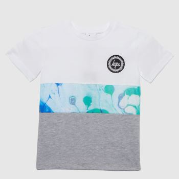 Hype White & grey Boys Sky Marble T-shirt Boys Tops