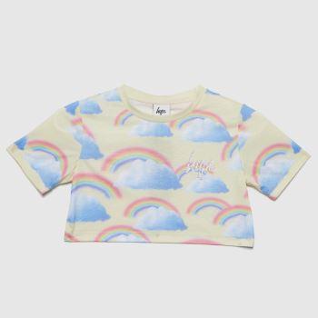 Hype Lemon Girls Rainbow Cropped T-shirt Girls Tops