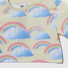 Hype Girls Rainbow Cropped T-shirt,2 of 4