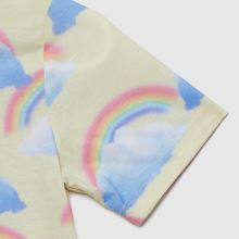 Hype Girls Rainbow Cropped T-shirt,3 of 4