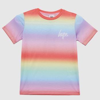 Hype Multi Girls Rainbow Fade T-shirt Girls Tops