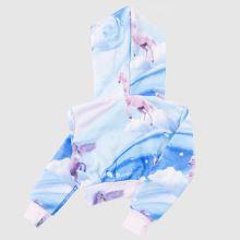 Hype Girls Crop Pullover Hood 1