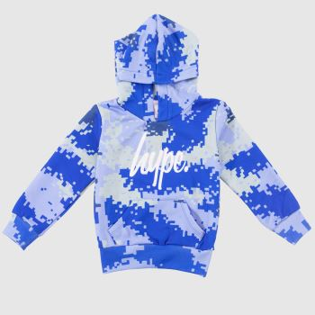 Hype Blue Boys Pullover Hoodie Boys Tops