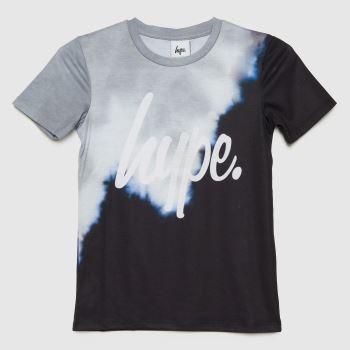 Hype Black & Grey Boys Tie Dye T-shirt Boys Tops